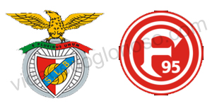 Benfica vs Dusseldorf – Luisão e Arbitro