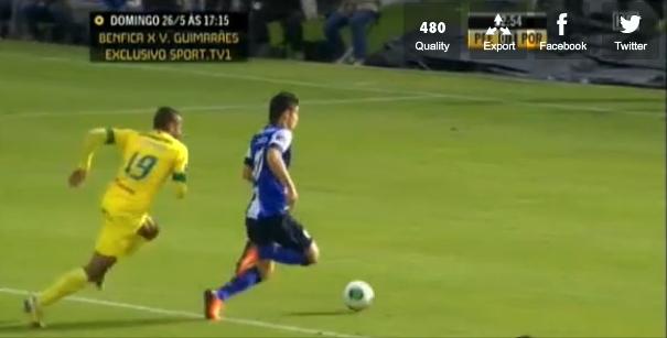 Penalti contra o Paços de Ferreira no jogo do Porto