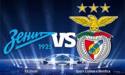 Golos FC Zenit 1 vs 2 Benfica – Liga dos Campeões