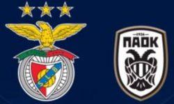 Golos Benfica 1 vs 1 PAOK – Liga dos Campeões