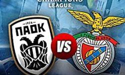 Golos PAOK 1 vs 4 Benfica – Liga dos Campeões